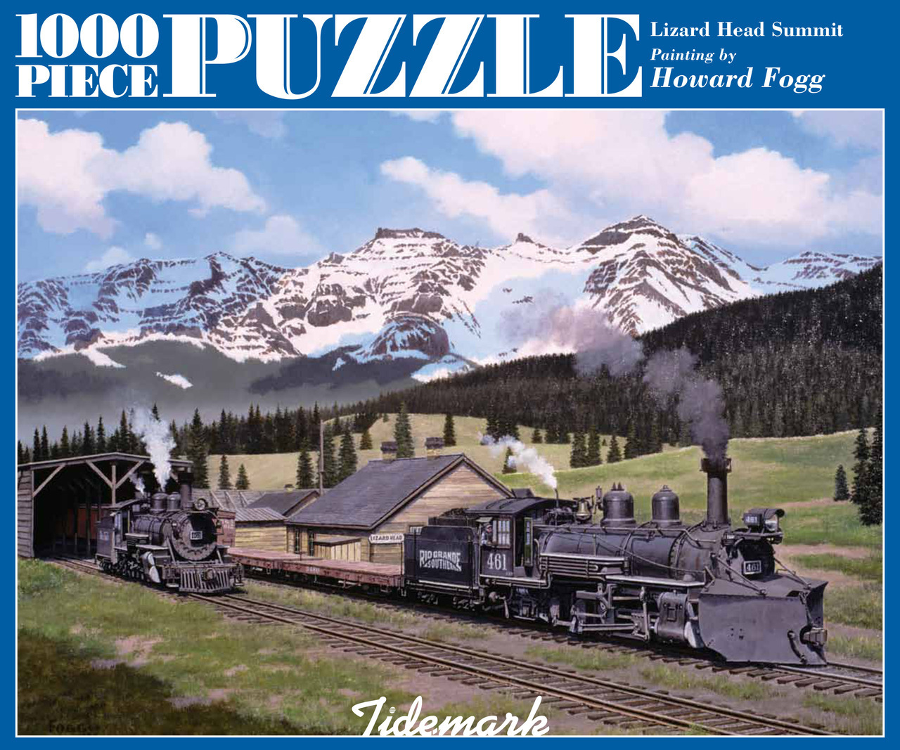 Lizard Head Summit 1,000 Piece Rio Grande Railroad Jigsaw Puzzle carton cover