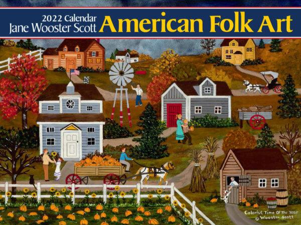 American Folk Art Wall Calendar